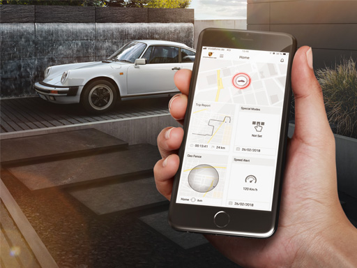 Das Porsche Classic Vehicle Tracking System